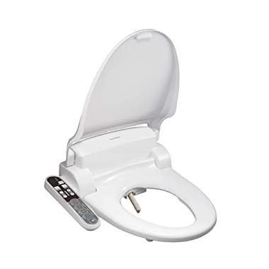 SmartBidet SB-2000 Electric Bidet Seat for Round Toilets - Electronic Heated Toilet Seat with Warm Air Dryer and Temperature Controlled Wash Functions (White)