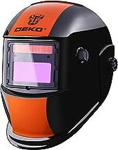 DEKOPRO Welding Helmet Solar Powered Auto Darkening Hood with Adjustable Shade Range..