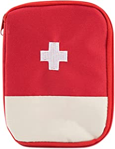 Boodtag Medecine Storage Bags Portable Travel First Aid Box Home Emergency Waterproof Pill Mini Pouch Empty  Red