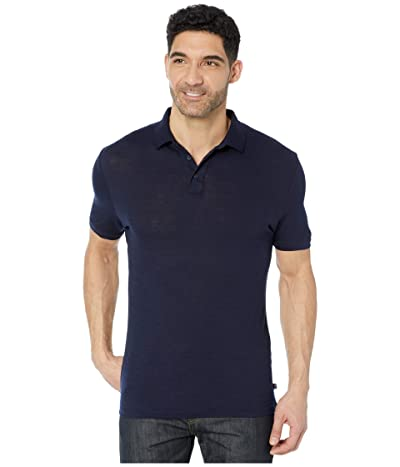 Helly Hansen Merino Light Short Sleeve Polo (Navy) Men