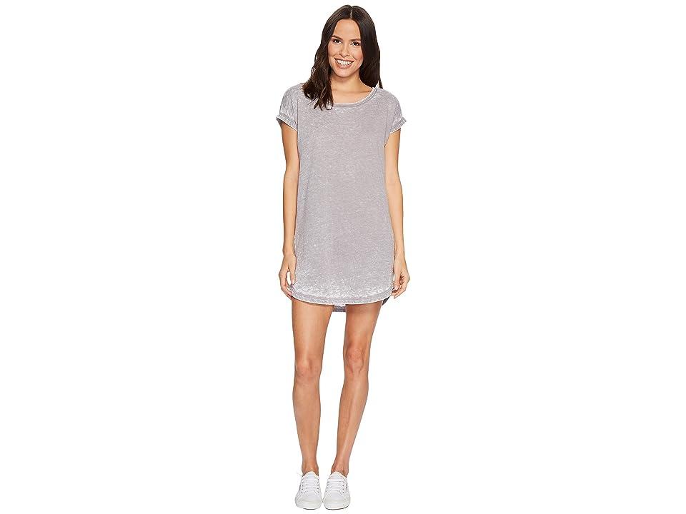 Allen Allen Crisscross Back Dress (Medium Grey) Women