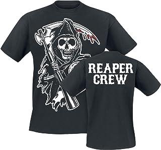 Sons of Anarchy Reaper Crew Hombre Camiseta Negro, Regular