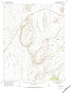 YellowMaps Lunar Crater NV topo map, 1:62500 Scale, 15 X 15 Minute, Historical, 1967, Updated 1984, 21.9 x 18 in