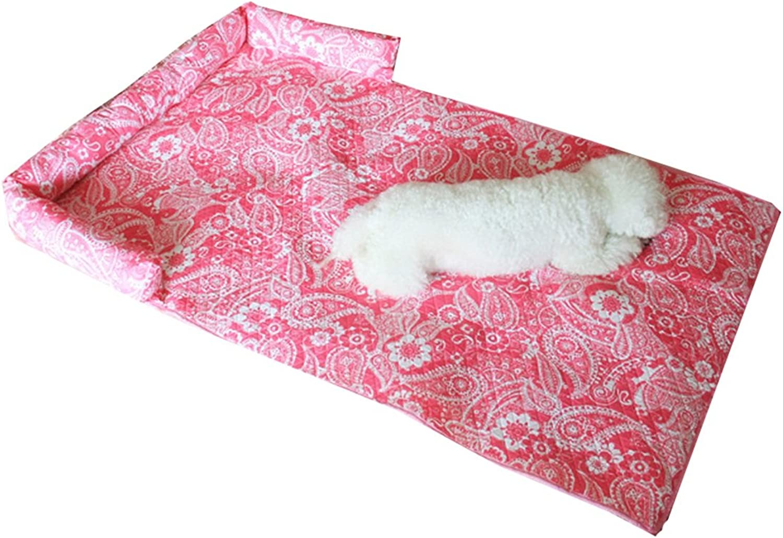 Shengyaju Pet Mattress Pet Sofa Chair Cover Furniture Predector with Bolster(L)