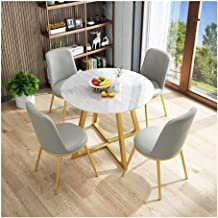 Simple Furniture - Q Sofa Seat Office Lounge Vintage Home Table Chair Round Fabric 5-Piece Modern Negotiate Combination Si...