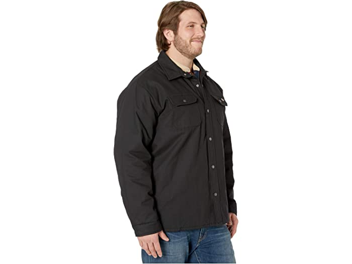 Dickies Big & Tall Plaid Lined Shirt Jacket Black Cos Outerwear