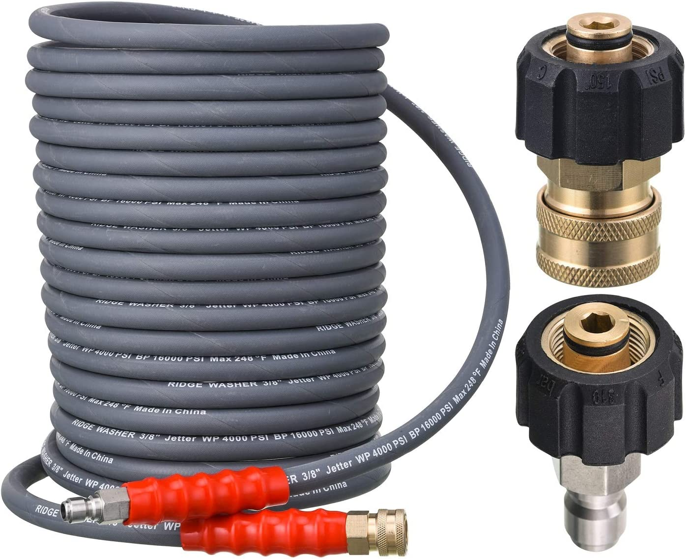 RIDGE WASHER Pressure Kansas City Mall Washer Hose 50 High quality new Feet X and 8 Hot 3 Inch for
