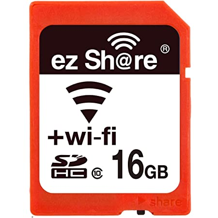 16GB ezShare Wi-Fi機能搭載SDHCカード Class10 Android/ iOS両対応 海外リテール Wi-FiSD-16G