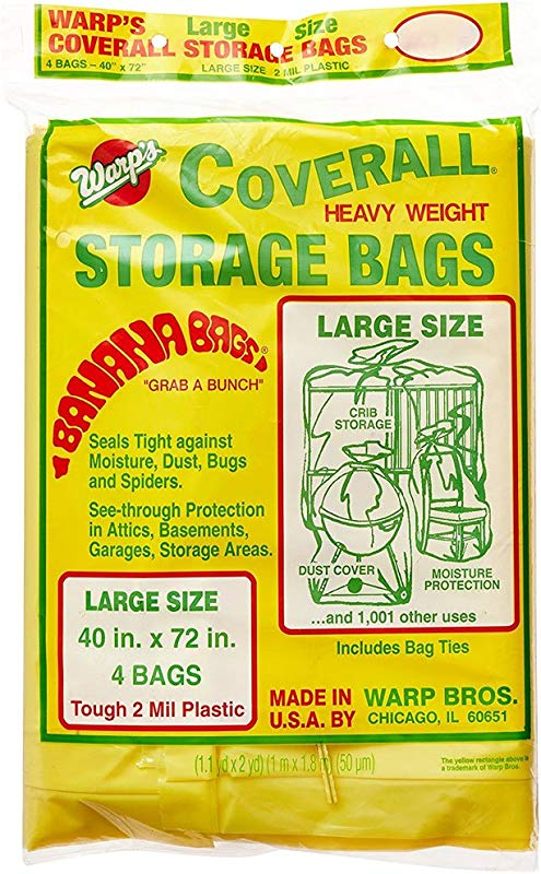 SKB Family Heavy Weight Plastic Storage Bags Large Set Of 4 72 X 20 X 2 Lbs