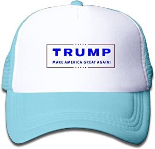 WH&SY Trump 2016 Election Children Mesh Trucker Cap Adjustable Fashion Kids Mesh Snapback Hat Cool Caps Black