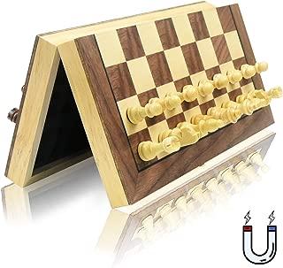 チェス 木製 磁石式 国際将棋 携帯型 GYBBER&MUMU chess セット 折りたたむボード マグネット 家庭 収納可 娯楽 脳トレーニング