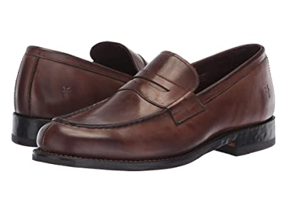 Frye Murray Penny (Brown Washed Dip-Dye Leather) Men