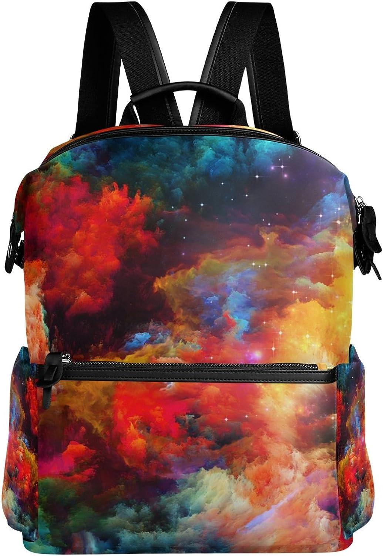 LORVIES Cool Fractal Paint School Rucksack Travel Backpack