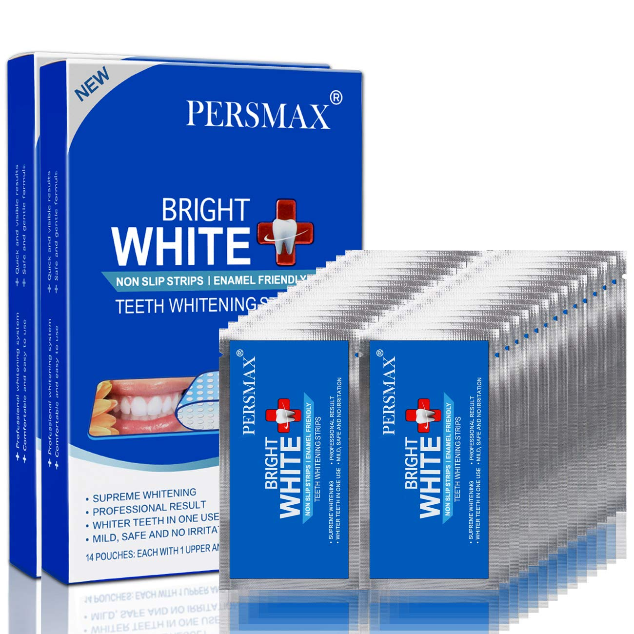 PERSMAX Teeth National uniform free shipping Whitening Strips Free Shipping New Treatments 28 Non-Slip 56