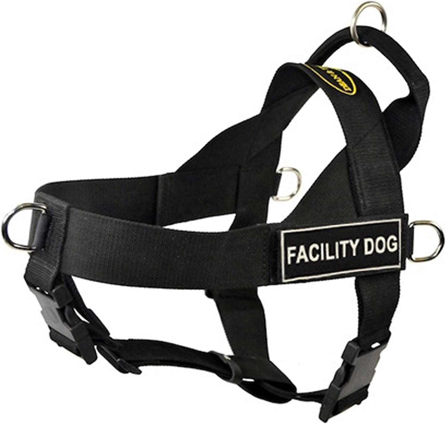 DT Universal No Pull Dog Harness, Facility Dog, Black, Small  Fits Girth Size  60cm to 70cm