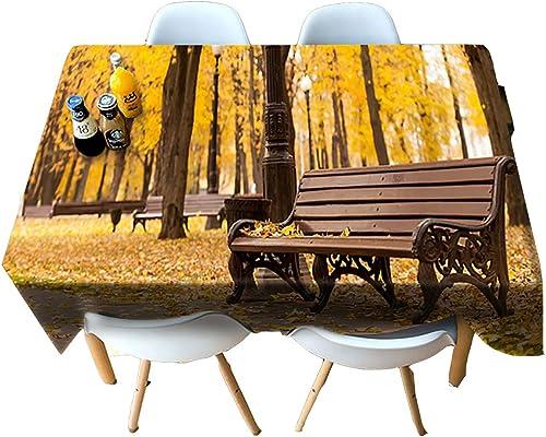 HUANZI Tablecloth Küchen Dekoration rechteckige Dinner-Tisch-Deckel 3D-Bank Druck staubdicht-gelb, Rectangle - Wide 178cmx Long 274cm