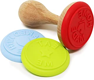 3 in 1 Cookie Stamp, Press Set Made in Germany Home Made, Eat Me, Baked with Love Impression