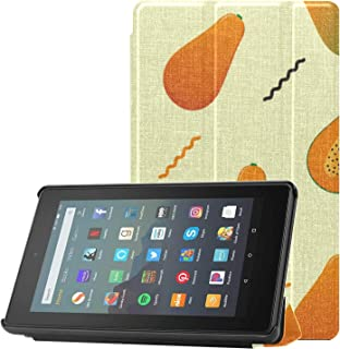 Etui na Kindle Hd Fire 7 pomarańczowe kremowe i czarne tabletki Papaya Fire 7 cali etui do tabletów Fire 7 (9. generacji, ...