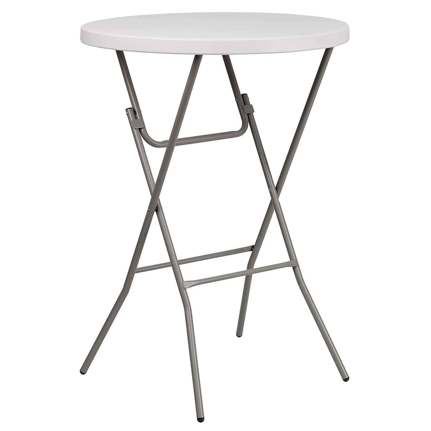 Flash Furniture 32'' Round Granite White Plastic Bar Height Folding Table [RB-32RB-BAR-GW-GG]