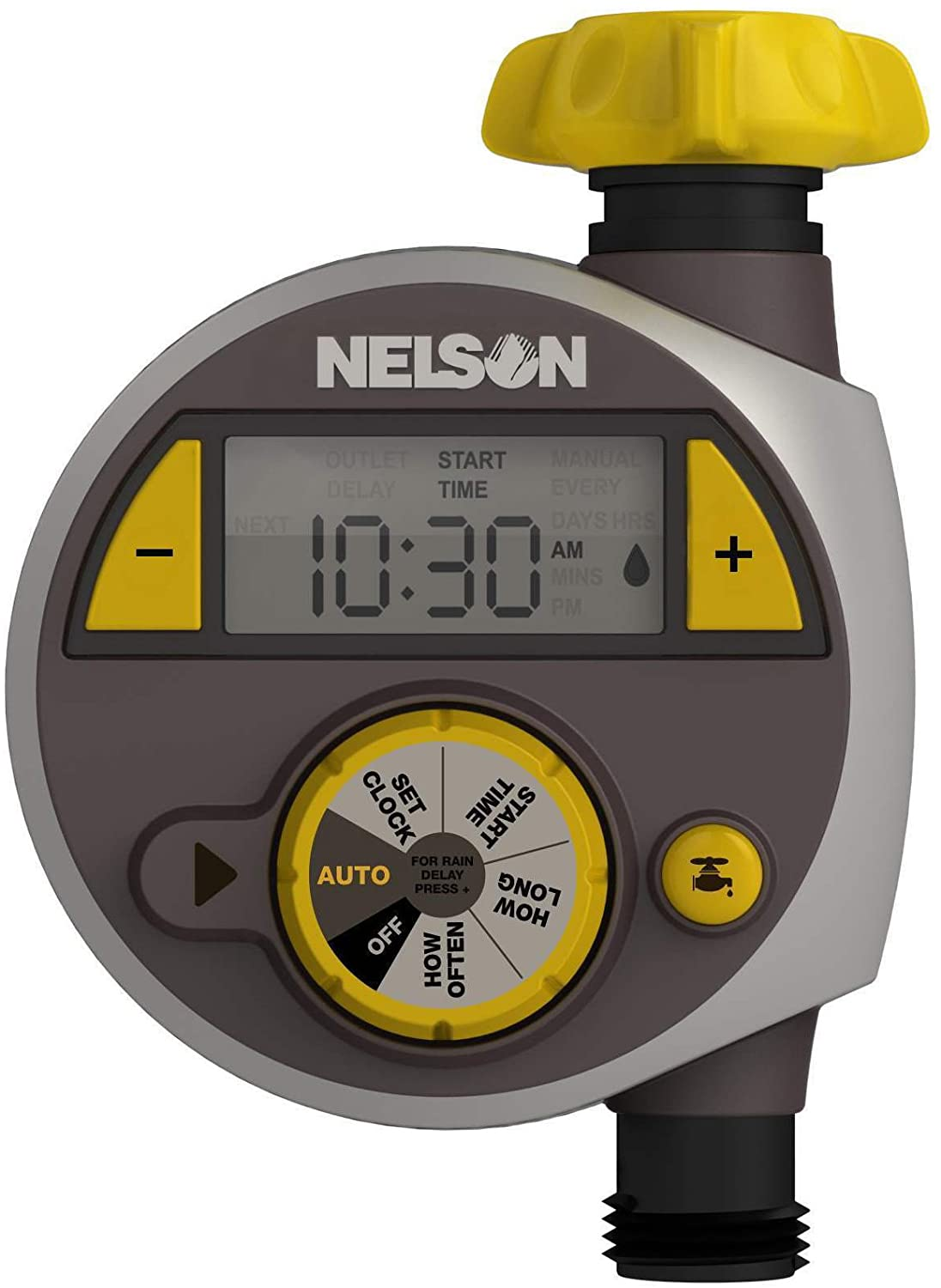 Nelson 56607 Timer with LCD New popularity Screen Max 86% OFF Large