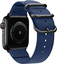 nylon Band Compatible with Apple Watch Band 44mm 42mm 40mm 38mm, Lightweight Breathable Woven Nylon Sport Wrist Strap with...