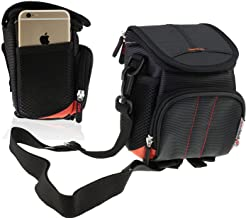 Navitech Black Flash Speedlite Case Bag Compatible with The Canon Speedlite 470EX-AI (with Shoulder and Belt Strap)