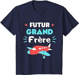 Enfant Annonce grossesse 2021 Future Grand Frère Avion T-Shirt