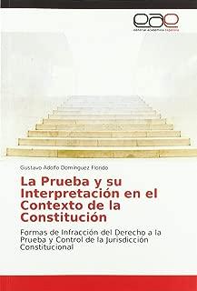 La Prueba y su Interpretación en el Contexto de la Constitución: Formas de Infracción del Derecho a la Prueba y Control de la Jurisdicción Constitucional (Spanish Edition)