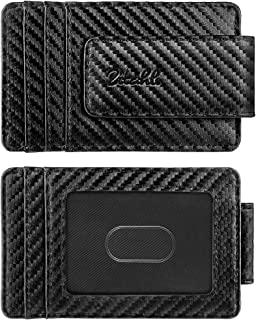 Money Clip Wallet For Men,Front Pocket Card Holder Slim Wallet With Strong Magnetic,RFID Blocking&Anti-magnetic