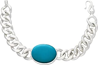 Jewelkari.com Salman Khan Being Human Bracelet Silver Plated and Turquoise Strand Bracelet for Men (Silver)
