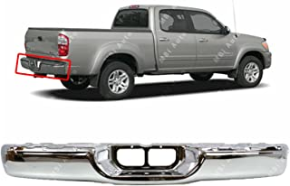 MBI AUTO - Chrome Steel, Rear Bumper Face Bar Shell for 2000 2001 2002 2003 2004 2005 2006 Toyota Tundra Pickup 00-06, TO1102229