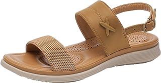 Damessandalen, riempjessandalen, retro, slingback, peep teen, comfortabele strandsandalen, zomer, outdoor sandalen.