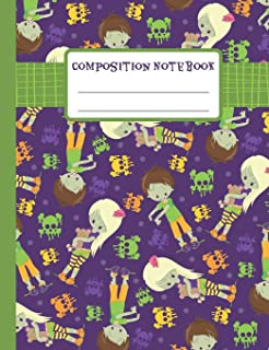 Composition Notebook: Teen Zombie - 110 Wide-Ruled Pages - Standard Composition Book Size - Fun Halloween Notebook