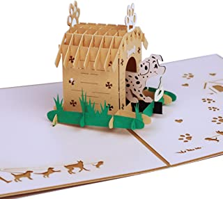 Timmor 3D Pop Up cards, Cute Dog Cards, Birthday Cards, Thank you Cards, Greeting Cards (Cute dog)