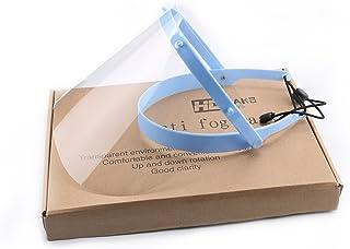 Inmedy Medical Supply Anti-fog Adjustable Dental Face Shield 10 Plastic Protective Film (Blue)
