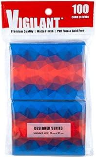 Vigilant Card Sleeves, 100 Count, Standard Size, Designer Art Print - Non Glossy (Frostfire 2.0)