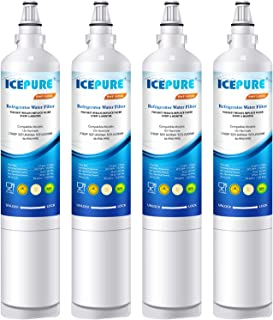 ICEPURE LT600P Replacement Refrigerator Water Filter, Compatible LG LT600P, 5231JA2006A, 5231JA2006B, KENMORE 46-9990, 9990, 469990, RWF1000A 4 PACK