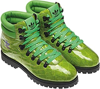 adidas Originals Men's Jeremy Scott Alligator Print Hiking Boots G61083,Size 4 Green/Black