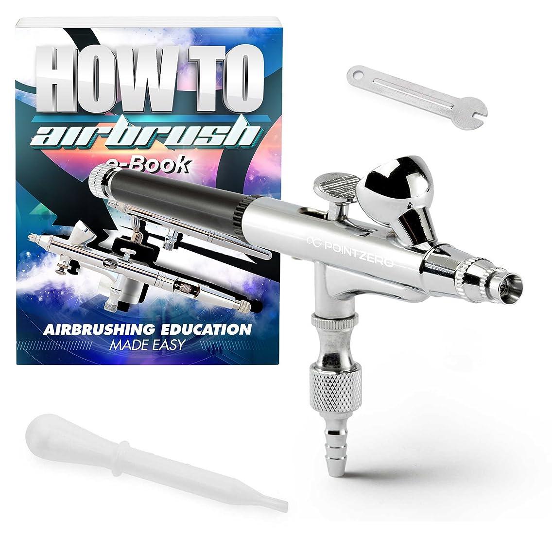 PointZero Dual-Action 2cc Gravity-Feed Airbrush Set - .2mm Nozzle