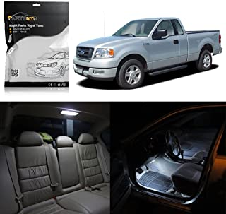 Partsam 10 White Interior LED Light Package Kit Replacement Bulbs Compatible with Ford F-150 2004 2005 2006 2007 2008 2009 2010 2011 2012 with Tool Kit