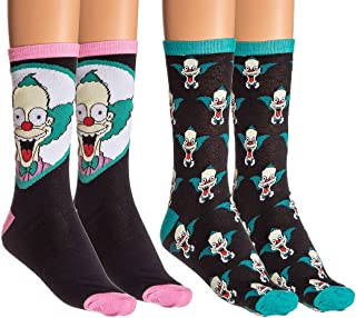 HYP Socks, The Simpsons Krusty The Klown, paquete de 2 calcetines