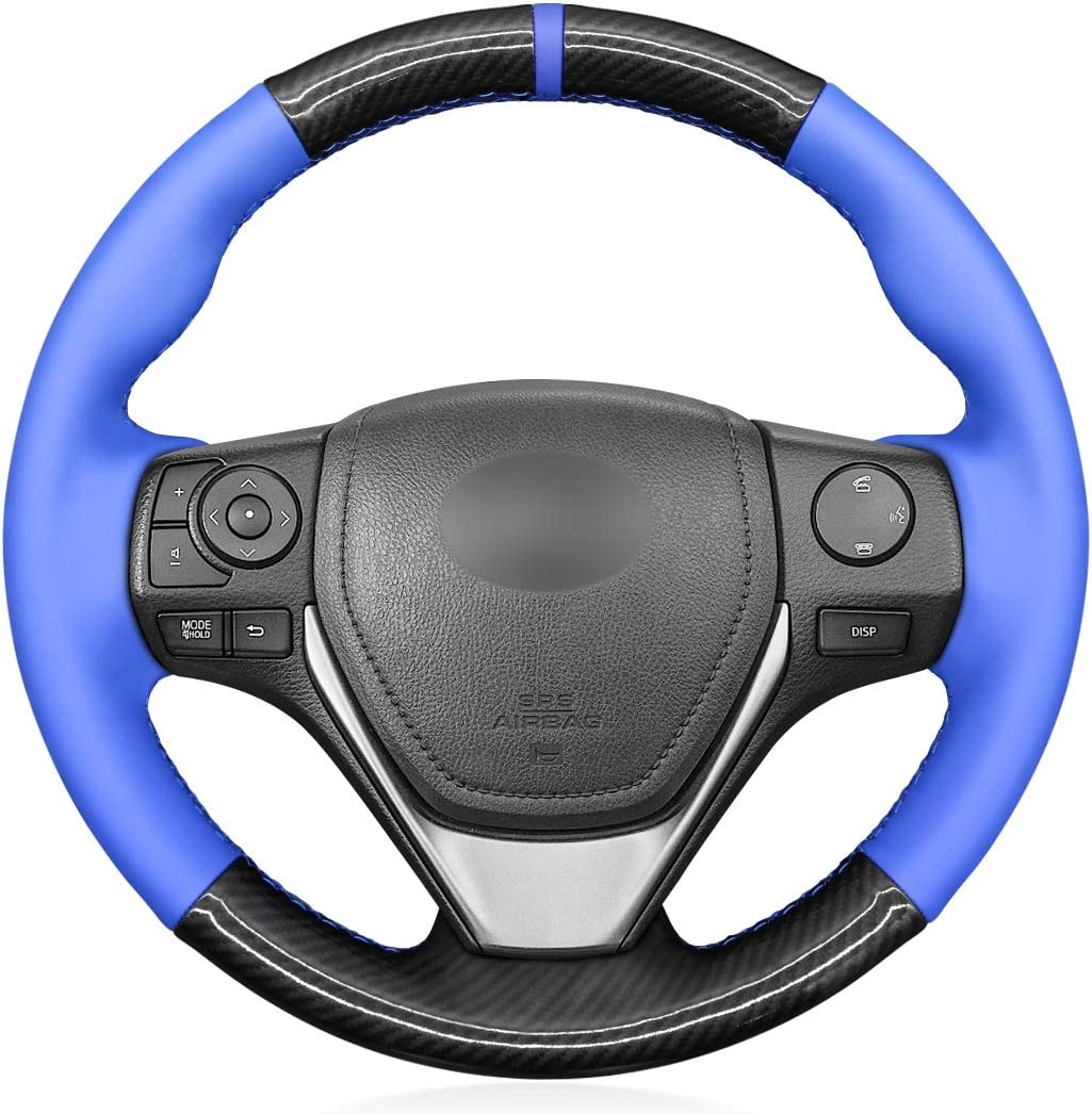 MEWANT Hand-Stitched Steering Wheel Covers M PU Ranking TOP4 Fiber Carbon and Max 48% OFF