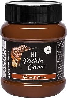 nu3 Fit Protein Creme - 400g Crema de chocolate y avellanas - Sin aceite de palma ni gluten - 90% menos azúcar - 21% de proteína - Excelente alternativa fitness baja en carbohidratos