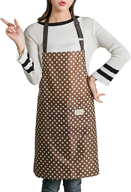 Chef Kitchen Apron 85cm with Water and Oil Proof for Baking Grilling and Barbeque Restraurant Double POCKETS Cotton,Deep Blue CAM2 Cooking Aprons Chef Apron