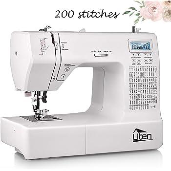 Uten - Máquina de coser computarizada electrónica con 200 puntadas y 8 ojales: Amazon.es: Hogar