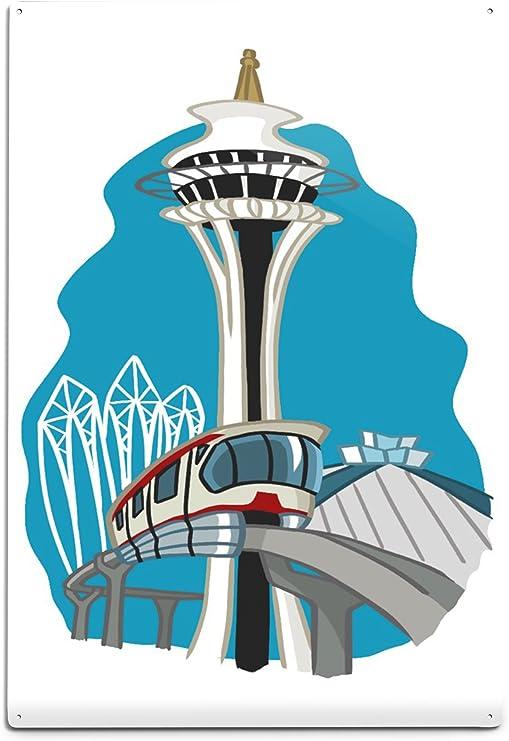 Space Needle in Seattle Wanddeko Deko Wandbild kratzfest Poster Colombo