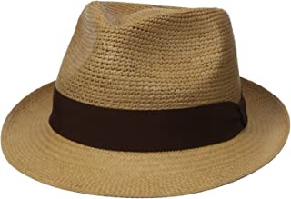 Henschel Men s Panama Straw Fedora with 2