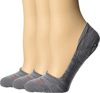 Women's No Show Sock - Secret Sleuth Merino Wool No Show Performance Socks 3 Pair Multi Pack