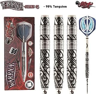 Shot! Darts Warrior-Steel Tip Dart Set-3 Series Center Weighted-90% Tungsten Barrels