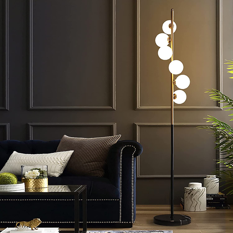 DO-MF 6 White Glass Shade メーカー直売 公式ストア Lamps Floor Standing Light with